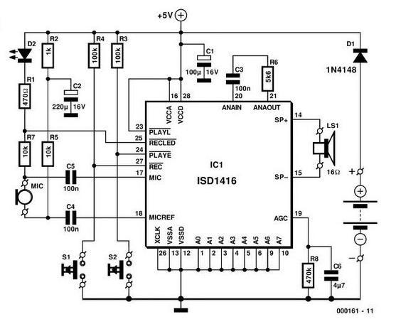 antenna handbook  voice memory circuit using single chip