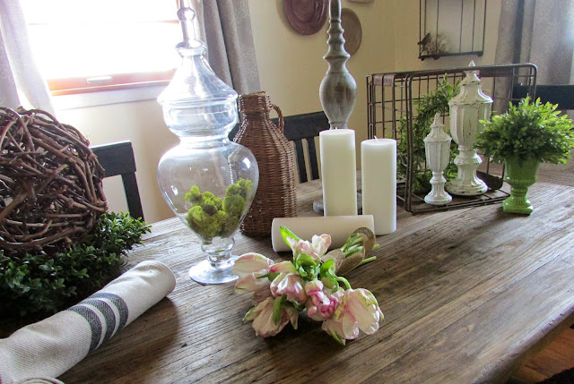 Rustic and French Inspired Centerpiece Idea
