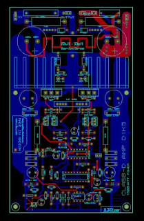 PCB Layout Power amplifier Class-D D1K5