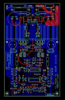 PCB Layout Power amplifier Class-D D1K5