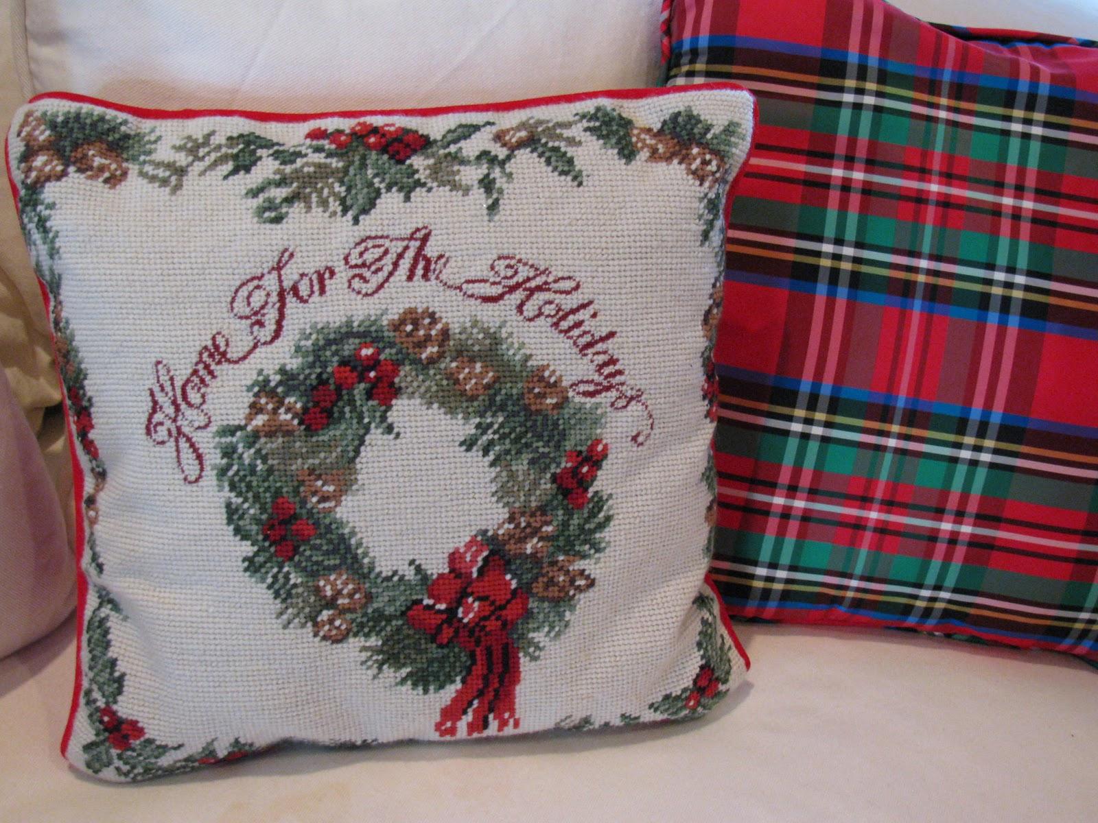 MAY DAYS: Needlepoint Christmas Pillows