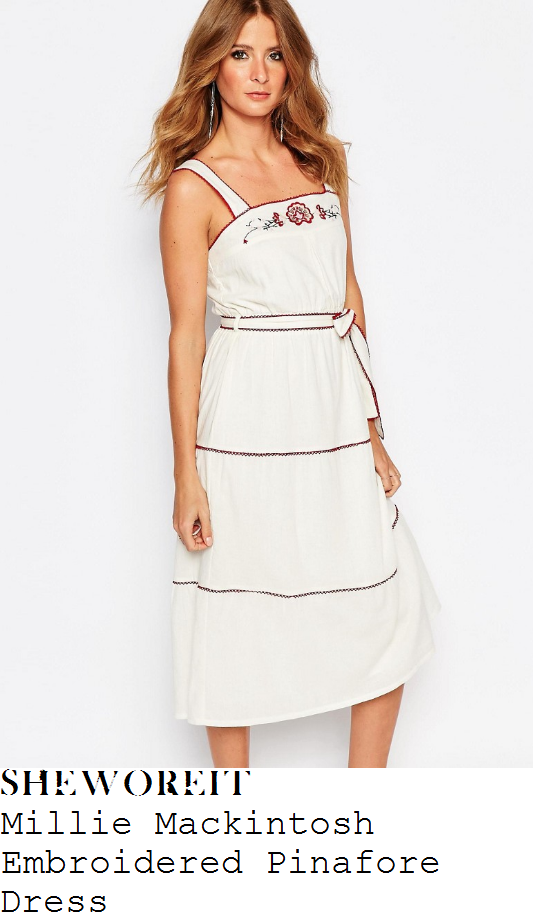 millie-mackintosh-millie-mackintosh-cream-red-and-black-embroidered-detail-sleeveless-square-neckline-pinafore-midi-dress