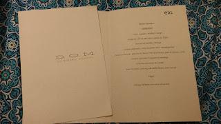 menu personalizado no D.O.M alex atala