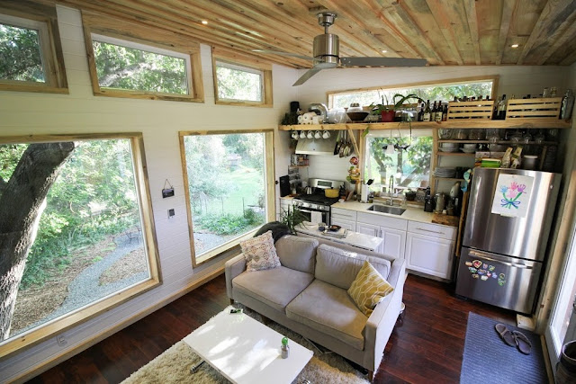 the urban cedar cabin interior