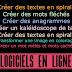 Générateurs en ligne : texte en spirale, mots fléchés, anagrammes, tags, mots cachés