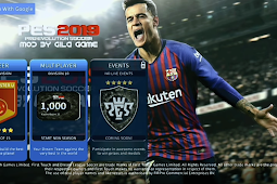 Download Game DLS 2019 mod PES 2019 Mobile Lite Apk + Data + Obb (Android)
