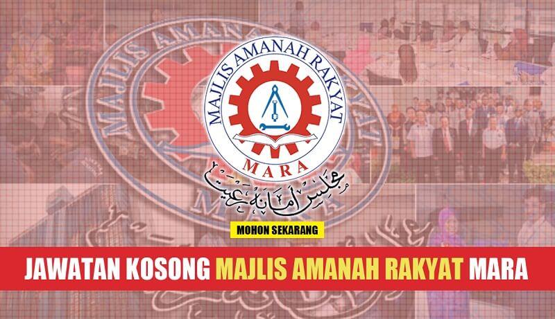 Iklan Jawatan Kosong Majlis Amanah Rakyat (MARA) (3 Disember 2017)