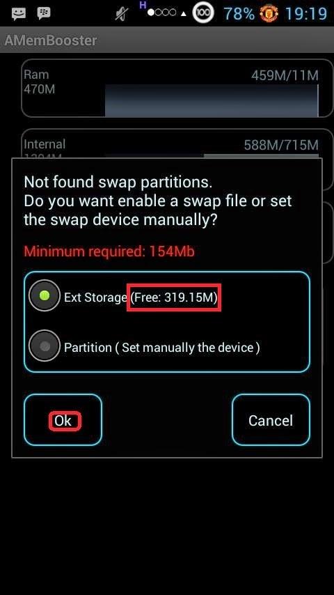 Aplikasi Penambahn ram android