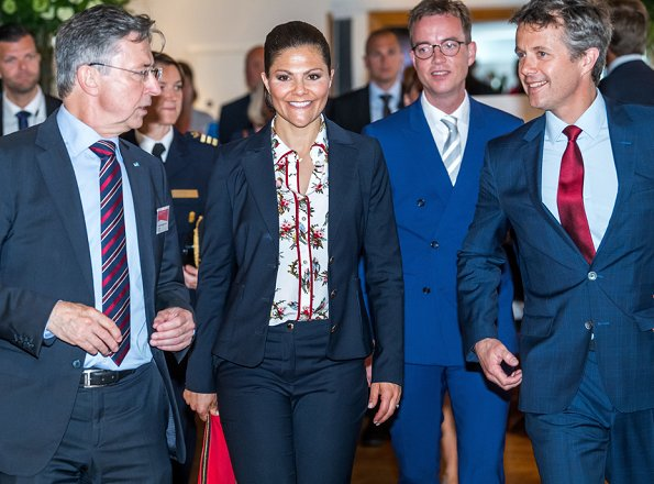 Crown Prince Frederik of Denmark and Crown Princess Victoria of Sweden visited the Strindberg Salen catering area at the Berzelii Park