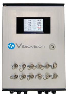 Monitor de vibración para protección y supervisión permanente de maquinaria.