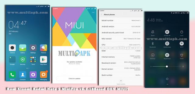 Rom Xiaomi Redmi Note 3 DEV MIUI v7 6.2.18 MiuiPro