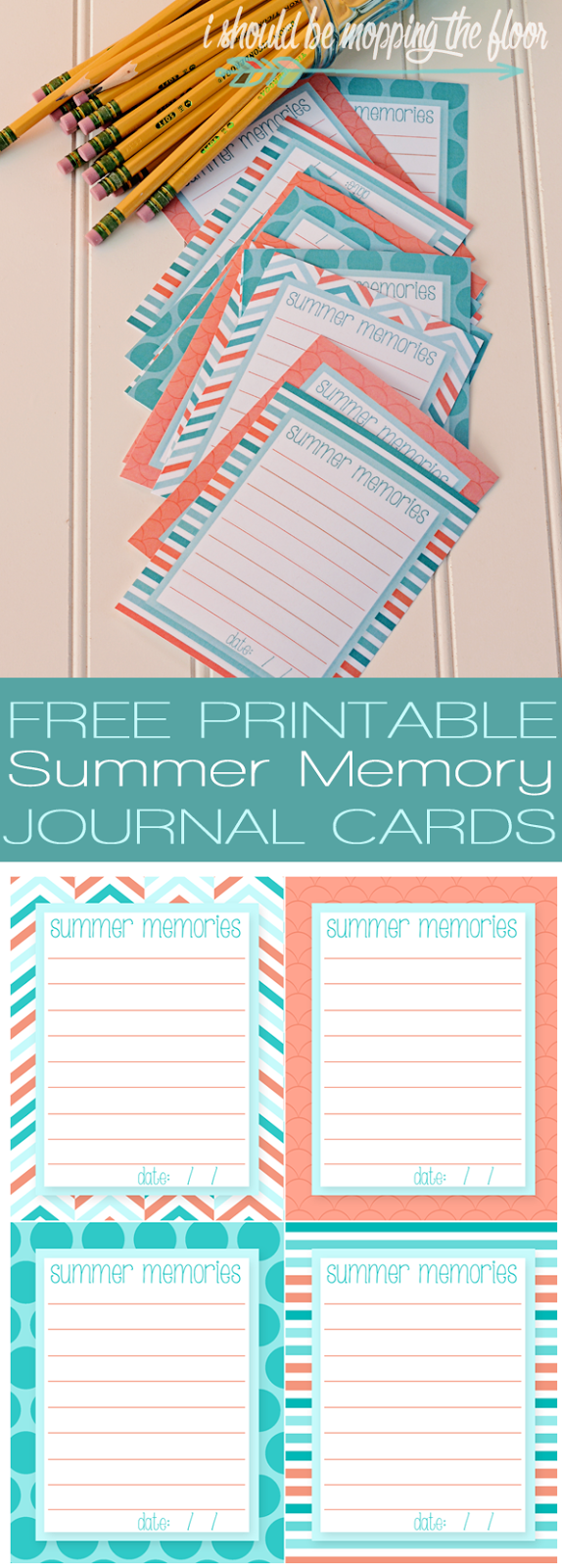 graphic regarding Free Printable Journal Cards named Absolutely free Printable Summertime Memory Magazine Playing cards i really should be