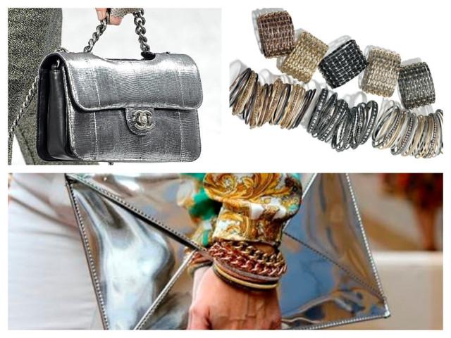 como usar roupas metalizadas
