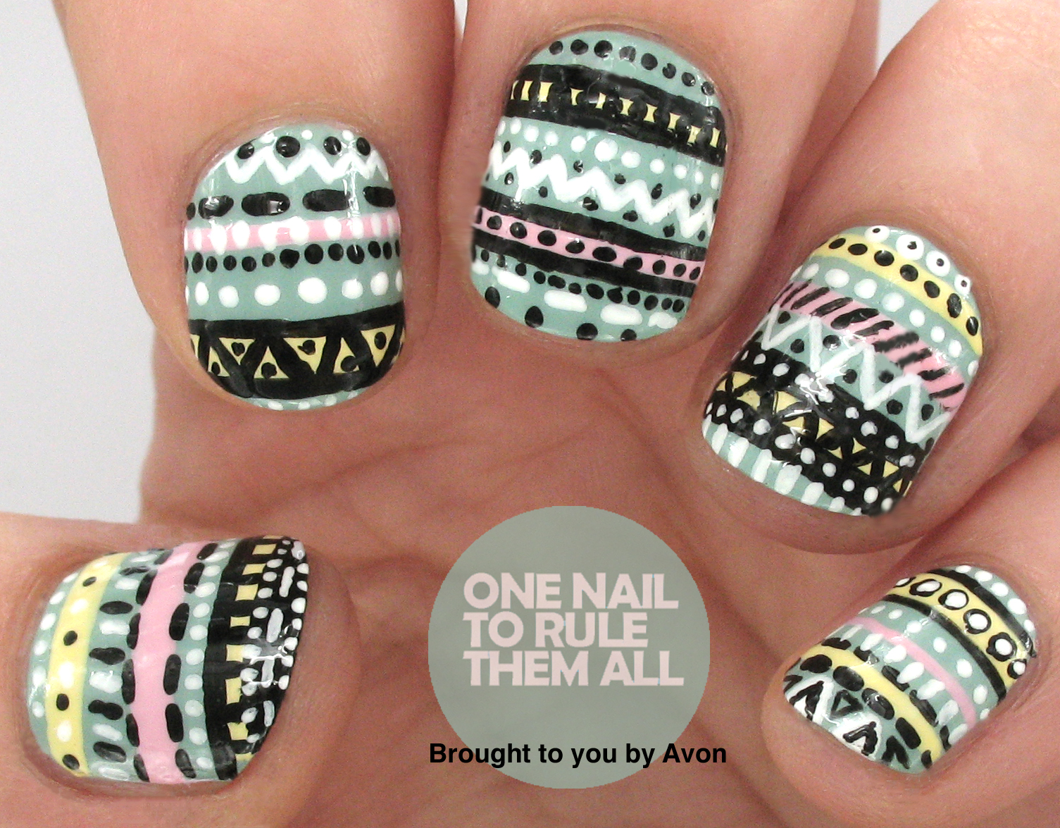 One Nail To Rule Them All Tribal Nail Art For Avon Tutorial