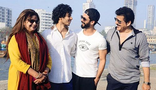 Neelima Azeem with Rajesh Khattar and sons