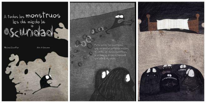 libro infantil superar miedo oscuridad: a todos los mosntruos les da miedo oscuridad