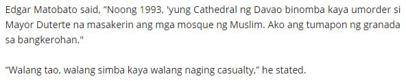 CONTROVERSIAL: Duterte Headed Bombing Mosque Bombing To Kill The Suspects Inside The Church - Witness