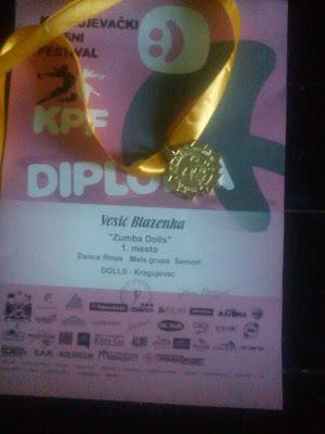medalja za prvo mesto