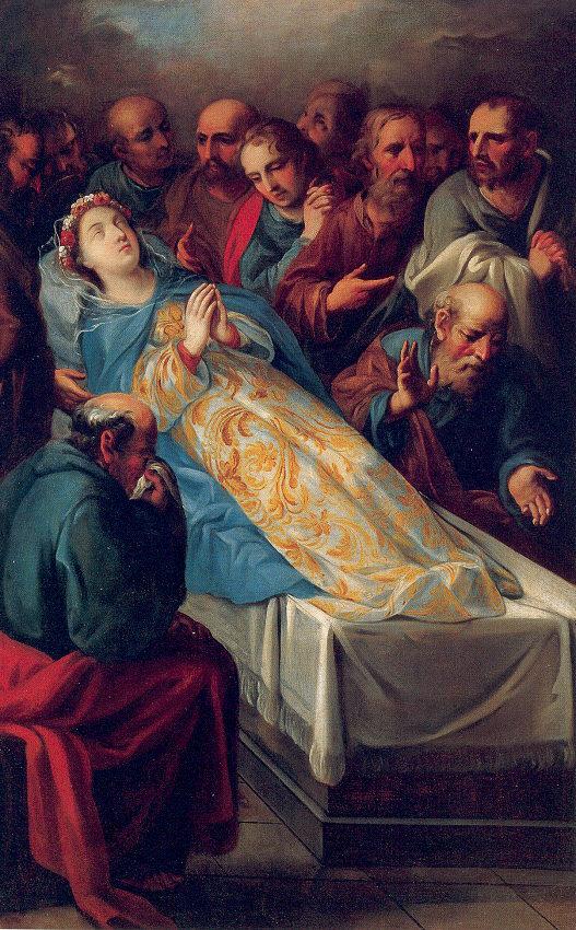 Resultado de imagem para Imagem da dormição da Virgem Maria