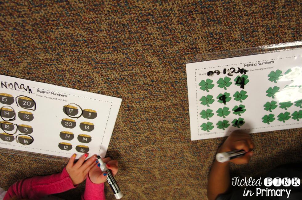 St. Patrick's Day Activities - MClass Math Practice