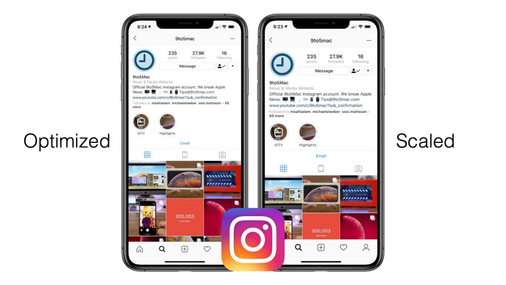 Instagram version 65 update for iPhone XR and iPhone XS Max