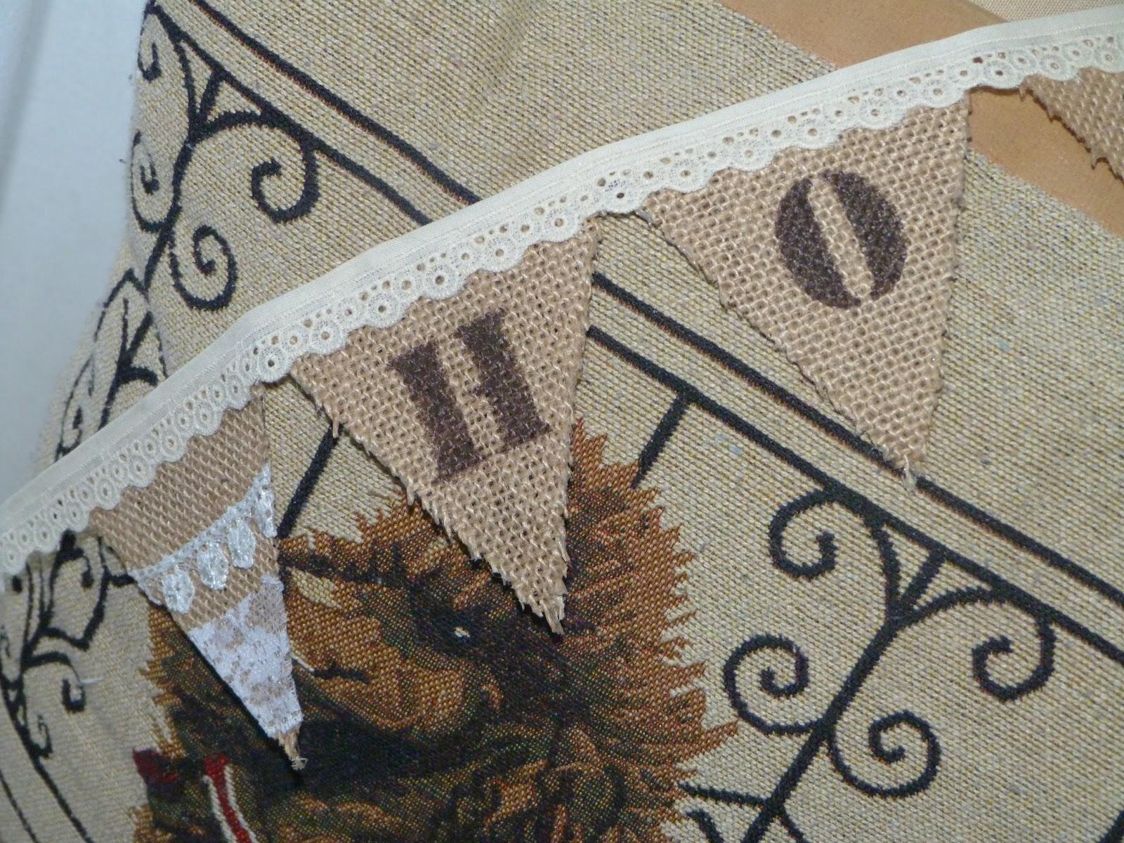 4b172edf8 Paso a paso: hacer banderines de arpillera - Isabel Vintage