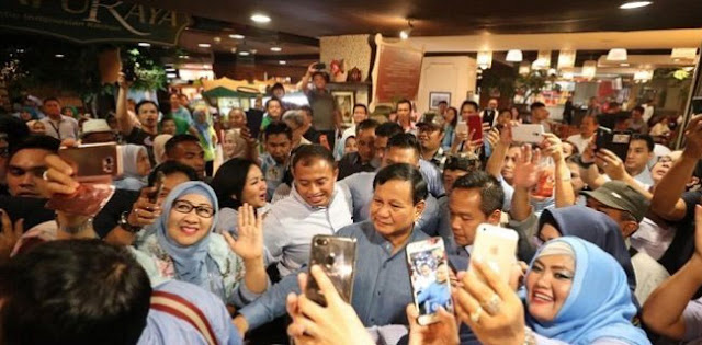 Prabowo: Kalau Emak-Emak Sudah Turun Perubahan Besar akan Terwujud