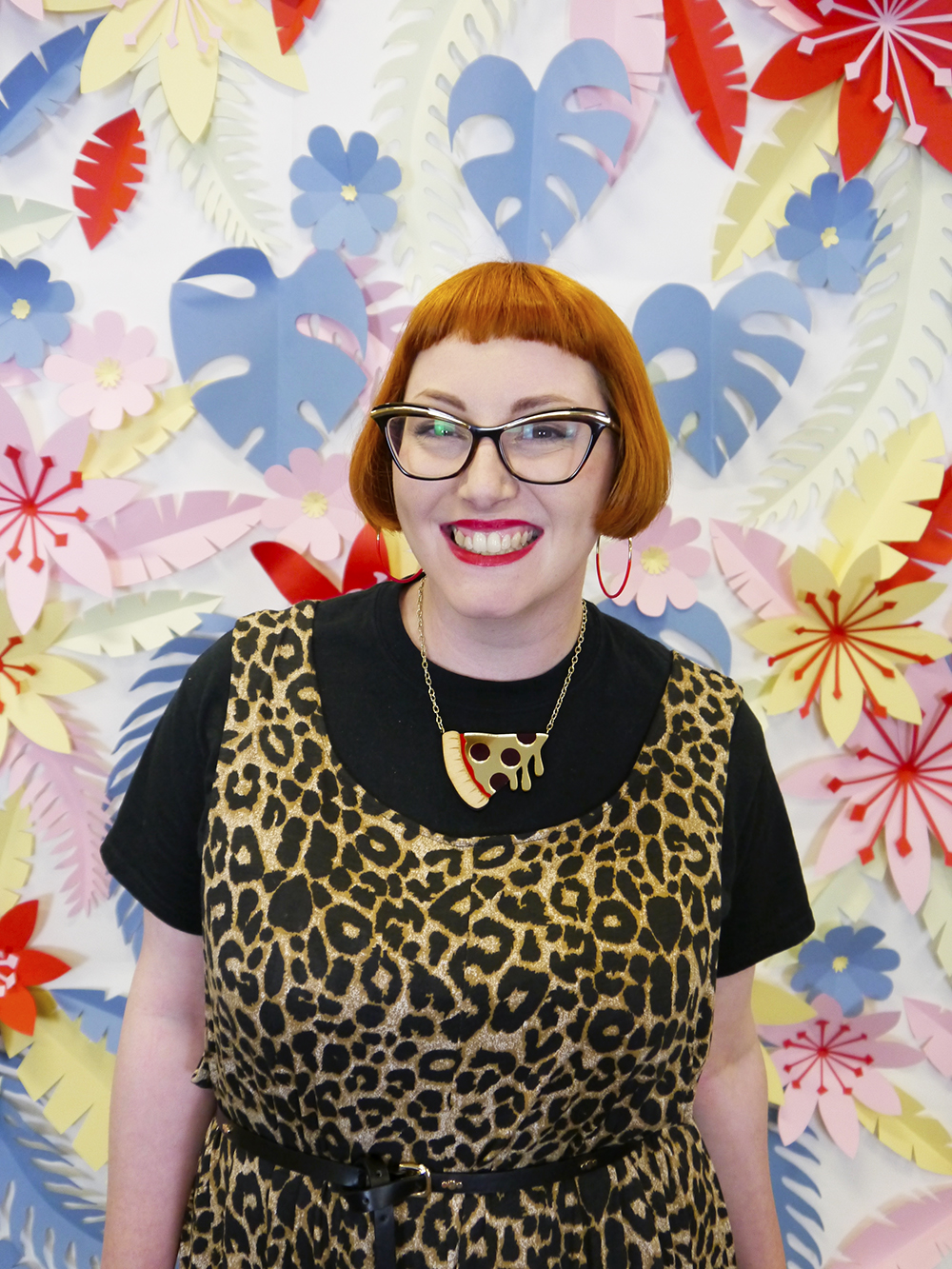 Wearing Dreamland leopard print jumpsuit at Blogtacular 2018