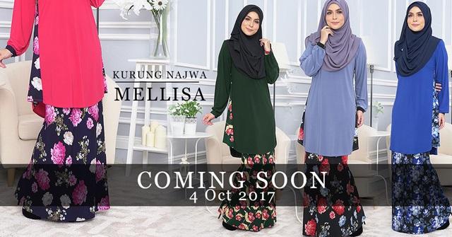 Baju Kurung Melissa dari SweetMuslimah Bakal Dilancarkan Esok!