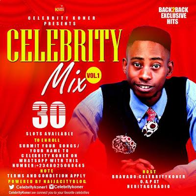 Celebrity Koner Presents Celebrity Mix Vol. 1 Powered By   Naijacityblog  