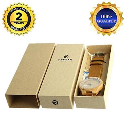 reloj de bambu ideal para regalar
