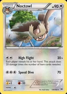 Noctowl BREAKthrough Pokemon Card