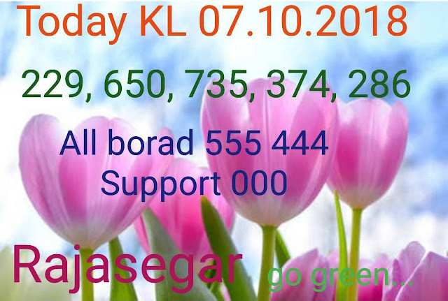 Kerala lottery prediction by rajasegar on 07.10.2018 Pournami RN 360