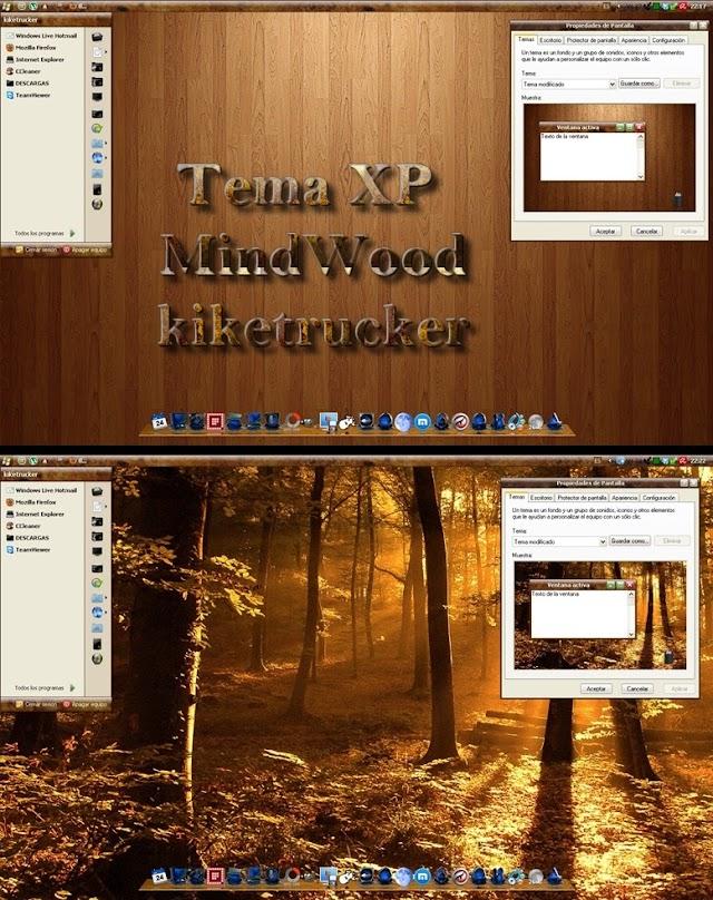Tema XP - MindWood | Un elegante estilo de madera para tu XP