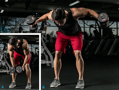 Bent-Over Rear-Delt Fly With Neutral, Offset grip