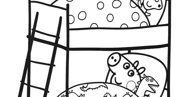 25+ Bunk Bed Coloring Page