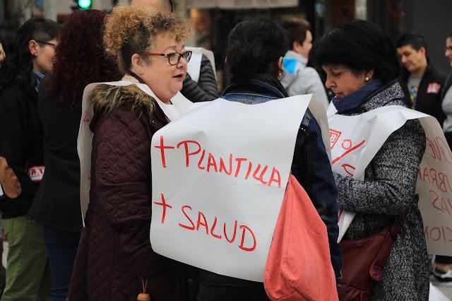 manifestación de trabajadoras supermercados Dia