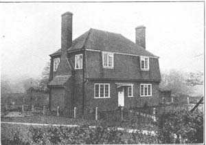 Photograph of one of the houses on the estate