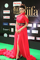 Apoorva in a Stunning Tight Leg Split Sleeveless Red Gown at IIFA Utsavam Awards 06.JPG