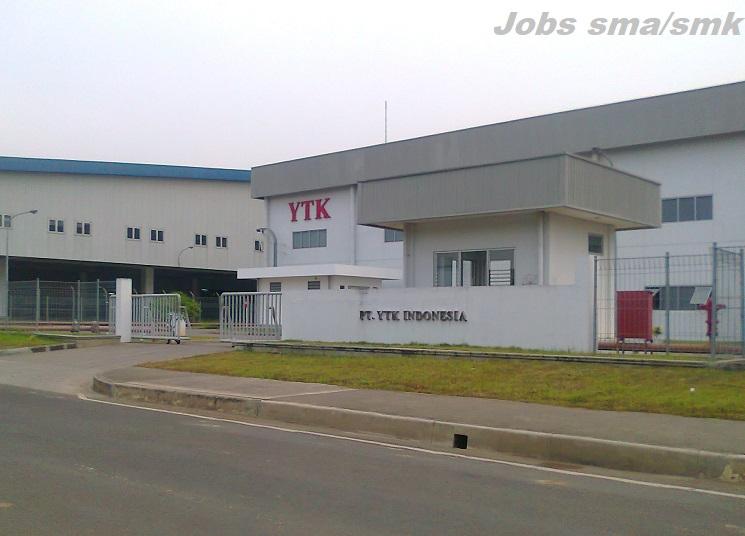 Lowongan Kerja di Kawasan MM21000 PT.YTK Indonesia