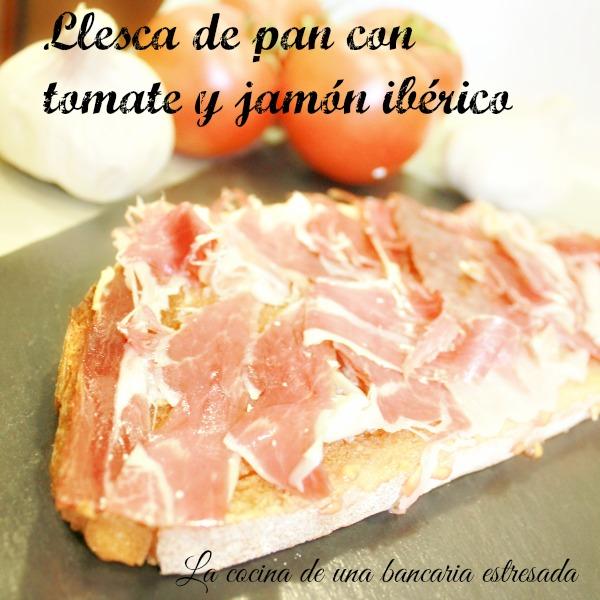 Receta de pan con tomate y jamón ibérico