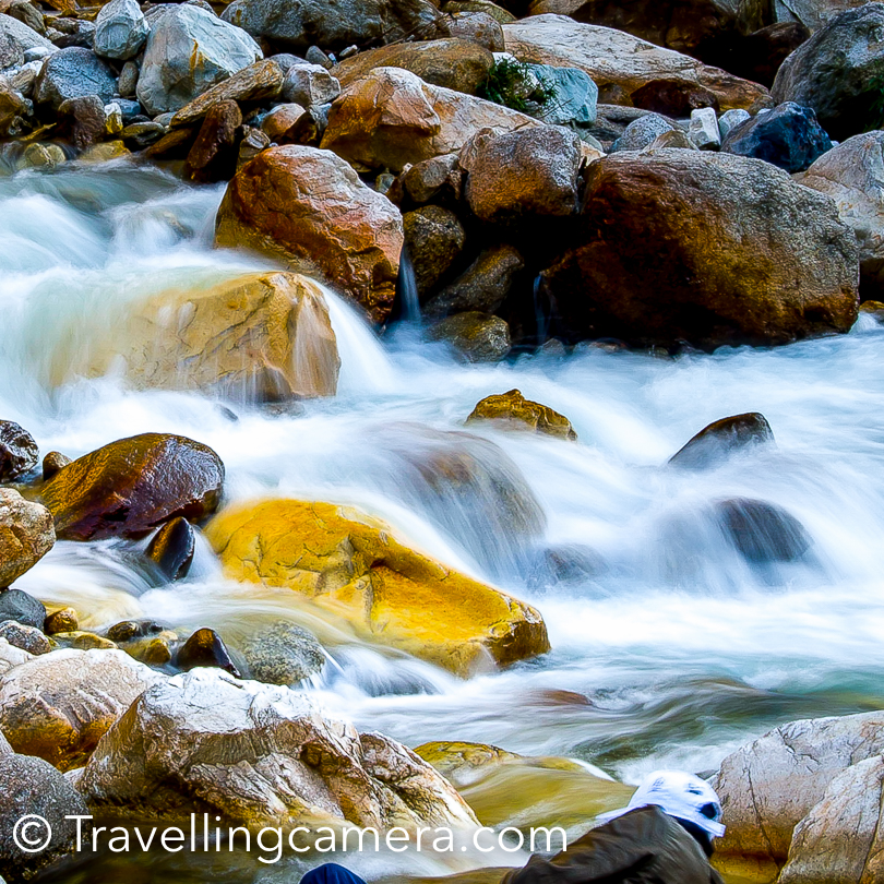 Those were the days when I was learning various Photography techniques and the utility of Shutter-Speed mode :). I along with other Photographer friends spent a lot of time around these water streams to click the flowing water. We had lots of opportunities to try different kinds of photographs around Kullu Sarahan.   Related Blogpost - Some Motorbike Stunts by Aneesh Airborne Awasthi in Himalayan ranges : Kullu Sarahan !!!