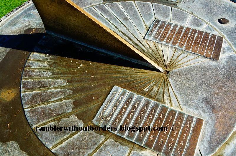 Sundial showing 1:30, Kings Park, Perth, Australia