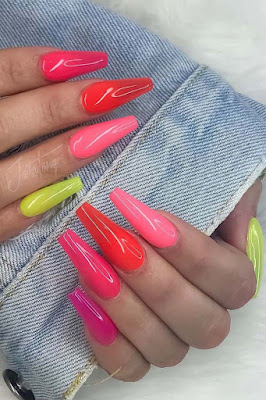 Searching for a Coffin Nails Art design which will make your coffin nails stand out from  ✘ 36 Vibrant Coffin Nails Art Designs Ideas 2020 To Copy This Summer