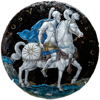 Medalló esmaltat amb Josuè cavaller, per Nouailher, s. XVI (París, Louvre)