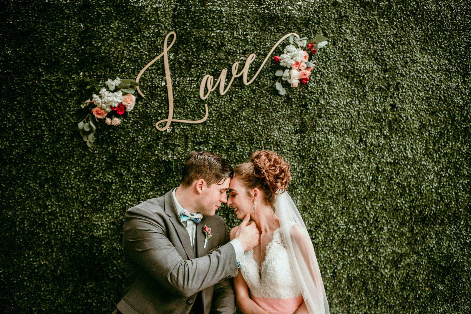 unique wedding altar