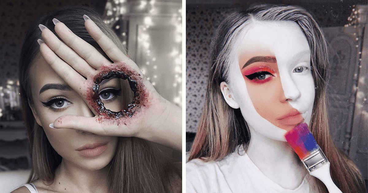 23-Year-Old Monika Mastered The Art Of Makeup For Halloween