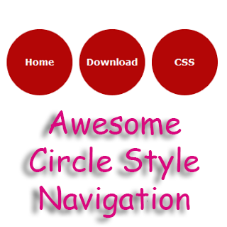 Your Post My Blog: Awesome Circle Style Navigation Menu for