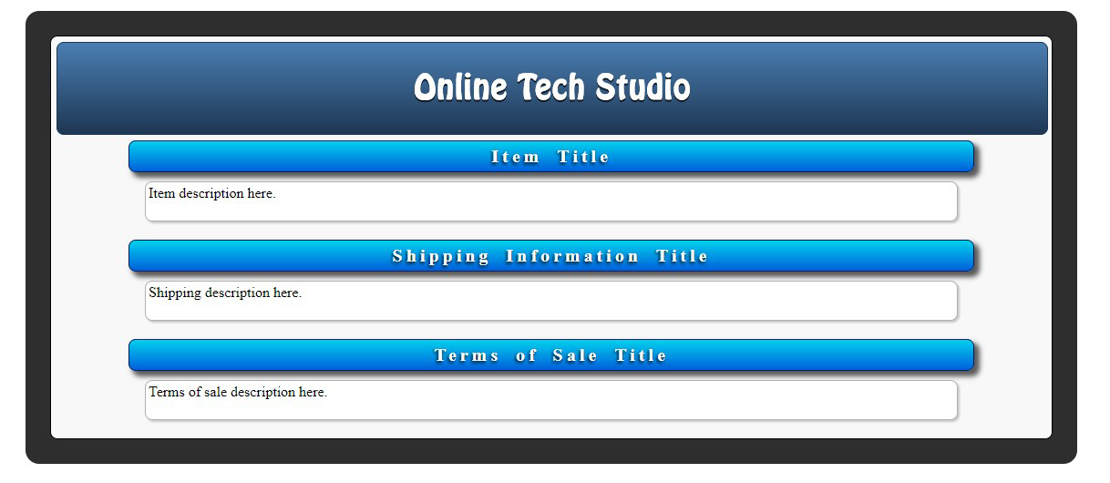 Best ebay listing template 2017 online tech studio ebay html listing template gumiabroncs Images