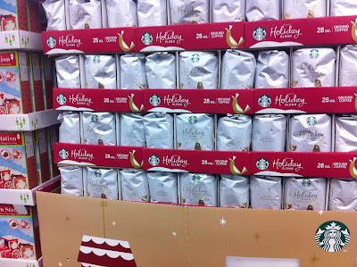 Sam's Club Starbucks Holiday Blend Coffee Display